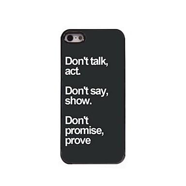 Voor iPhone 5 hoesje Patroon hoesje Achterkantje hoesje Woord / tekst Hard PC iPhone SE/5s/5