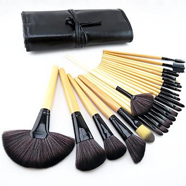 Profesyonel Makyaj fırçaları Fırça Setleri Suni Fibre Fırça / Midilli Atı Fırça / At Göz / 2 * Sünger Aplikatörü / 8 * Göz Farı Fırçası