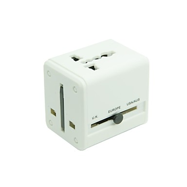 adaptador de tomada de viagens poder universal conversor elétrico EUA Reino Unido Europa com porta carregador duplo usb
