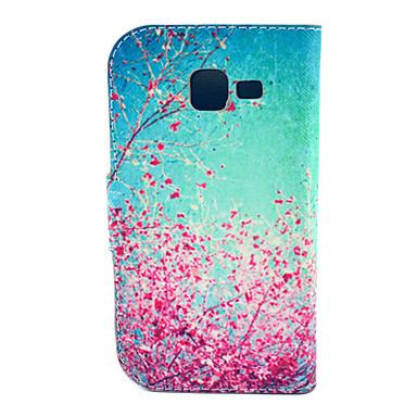 Para Samsung Galaxy Capinhas Porta-Cartão / Com Suporte / Flip / Estampada Capinha Corpo Inteiro Capinha Flor Couro PU Samsung Trend Lite