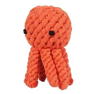 זול צעצועים לכלבים-צעצועי לעיסה חבל תמנון טֶקסטִיל עבור צעצוע לכלב