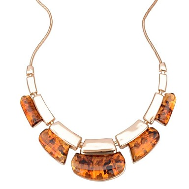 37130d880 Nový zlatý řetěz leopard tisk geometrie módní jantarové šperky velký tlustý  prohlášení náhrdelník pro ženy