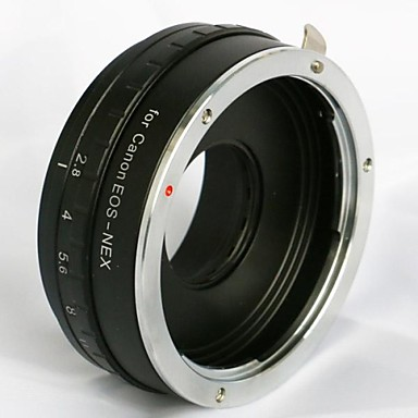 instelbare diafragma canon eos ef lens om Sony NEX-3 NEX-5 NEX-7 e mount adapter