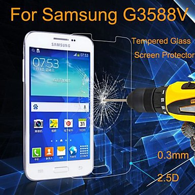 Άθραυστο Γυαλί/Ενάντια στην Σκόνη/Αδιάβροχη - Προστατευτικό οθόνης - για Samsung Galaxy Core 2 G3558 / G3559