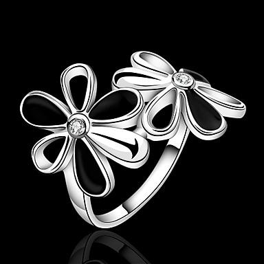 Ringen Feest / Dagelijks / Causaal Sieraden Verzilverd Dames Bandringen 1 stuks,7 / 8 Zilver