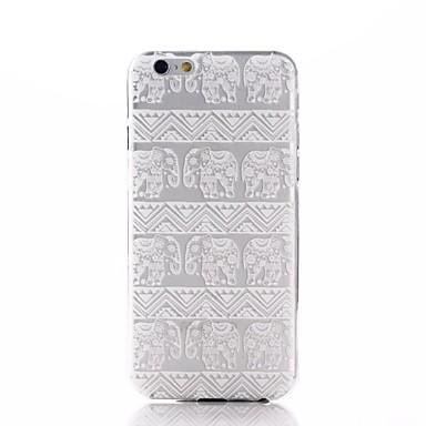 Pouzdro Uyumluluk Apple iPhone 7 / iPhone 7 Plus / iPhone 6 Plus Şeffaf / Temalı Arka Kapak Fil Yumuşak TPU için iPhone 7 Plus / iPhone 7 / iPhone 6s Plus