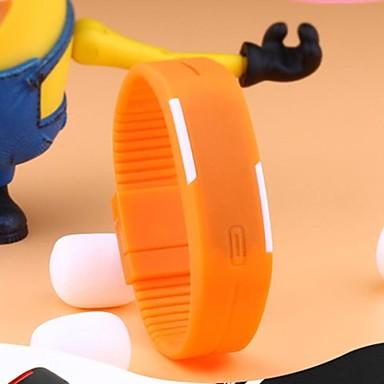 Heren Sporthorloge Digitaal LED Aanraakscherm Kalender Waterbestendig Rubber Band Zwart Wit Blauw Rood Orange Groen Grijs Roze Paars