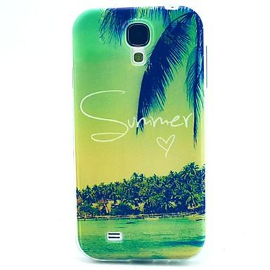 hoesje Voor Samsung Galaxy Samsung Galaxy hoesje Patroon Achterkant Landschap TPU voor S4 Mini
