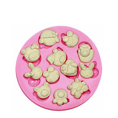 schattige cartoon dieren siliconen mal taart decoreren siliconen mal voor fondant snoep ambachten sieraden pmc hars klei