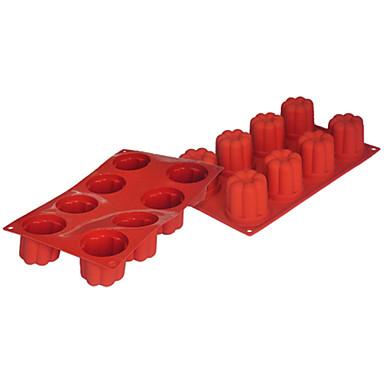 four-c cupcake levert siliconen bakvormen bloem taart bakken pannen, taart bakvormen siliconen pannen kneedt kleur paarsachtig rood