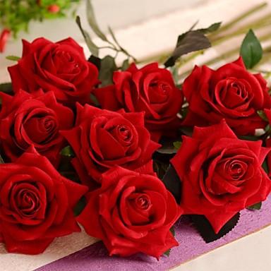 Yapay Çiçekler 1 şube Modern Stil Güller Masaüstü Çiçeği