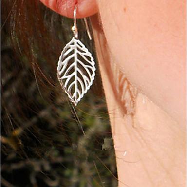 Druppel oorbellen Legering Bladvorm Sieraden Voor 2 stuks