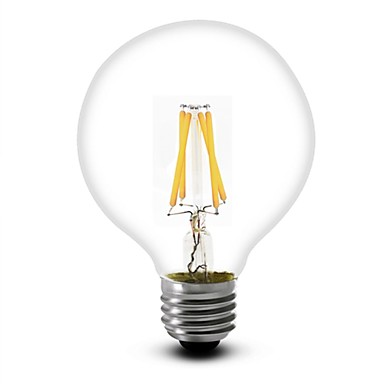 1pc 350 lm E26/E27 LED-gloeilampen G60 4 leds COB Warm wit AC 110-130V AC 220-240V
