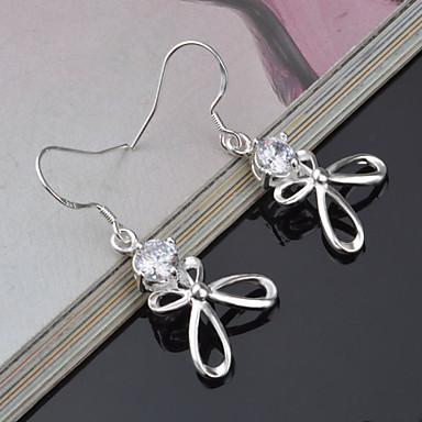 Kadın's Damla Küpeler - Titanyum Çelik Gümüş Uyumluluk Düğün / Parti