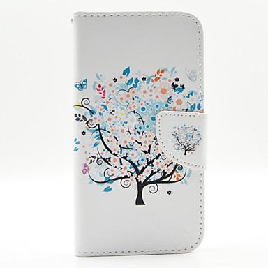 Capinha Para LG G3 LG Capinha LG Porta-Cartão Carteira Com Suporte Flip Corpo Inteiro Árvore Rígida PU Leather para