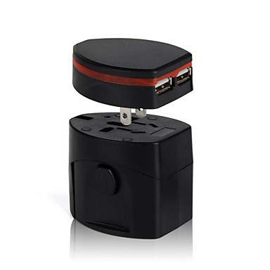 cheap AC Adapter & Power Cables-Universal Travel Plug Power Outlet Socket Adapter Converter US UK AU Europe with Dual USB Charger Port
