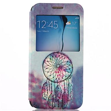 Για Samsung Galaxy Θήκη με βάση στήριξης / με παράθυρο / Ανοιγόμενη tok Πλήρης κάλυψη tok Ονειροπαγίδα Συνθετικό δέρμα Samsung S6
