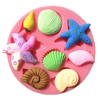 Bakeware araçları Plastik Kendin-Yap Kek Yuvarlak Pasta Kalıpları 1pc