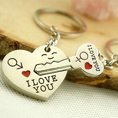 שרשרת מפתחות תכשיטים סגסוגת חמוד אוהבים אהבה לבוש יומיומי בגדי ריקוד גברים בגדי ריקוד נשים