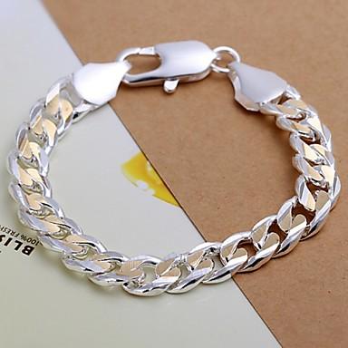 voordelige Heren Armband-Heren Armbanden met ketting en sluiting Verzilverd Armband sieraden Voor Kerstcadeaus Bruiloft Feest Dagelijks Causaal