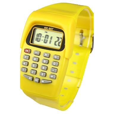 Çocuklar için Moda Saat Dijital saat Japonca Quartz Dijital 30 m Takvim Gündelik Saatler Kauçuk Bant Dijital Şeker Sarı - Sarı İki yıl Pil Ömrü