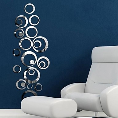 Decorative Wall Stickers Mirror Wall Stickers Mirrors Living Room