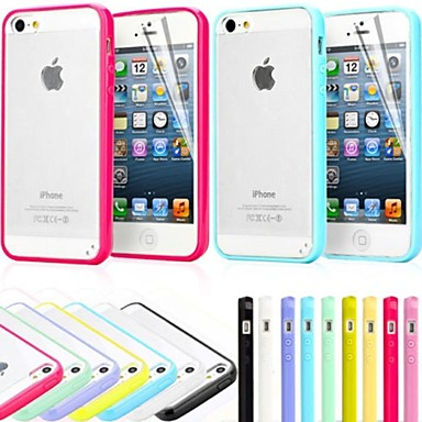 hoesje Voor iPhone 5 Apple iPhone 5 hoesje Mat Achterkant Effen Kleur Hard PC voor iPhone SE/5s iPhone 5