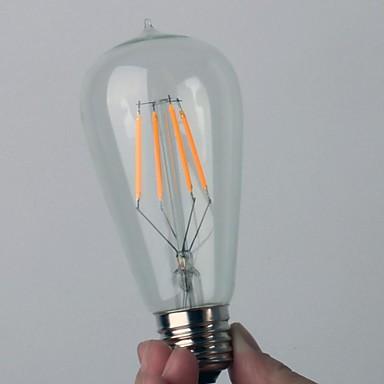4w 4cob bulbo retro led filamento bulbo quente branco ac220-240v