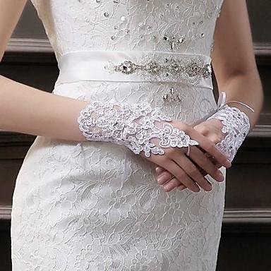 Polslengte Handschoen Bruidshandschoenen Feest/uitgaanshandschoenen With Strass