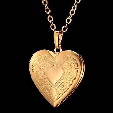 Γυναικεία Κρεμαστά Κολιέ - Καρδιά, Λουλούδι, Love Βίντατζ, Πάρτι, Γραφείο Χρυσό, Ασημί Κολιέ Για Ειδική Περίσταση, Γενέθλια, Δώρο