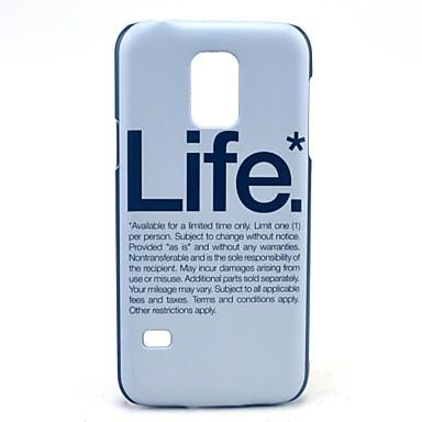 Για Samsung Galaxy Θήκη Με σχέδια tok Πίσω Κάλυμμα tok Λέξη / Φράση PC Samsung S5 Mini
