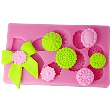 quatro c cor molde ofício açúcar sapatos molde queque silicone Pink Lady