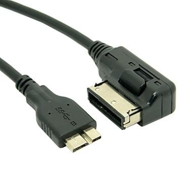 ΜΜΕ στην ami MDI Micro USB καλώδιο προσαρμογέα 3.0 επιβάρυνση για αυτοκίνητο VW Audi A4, A6 2014 Q5 Q7& note3 S5 IBM ThinkPad 8