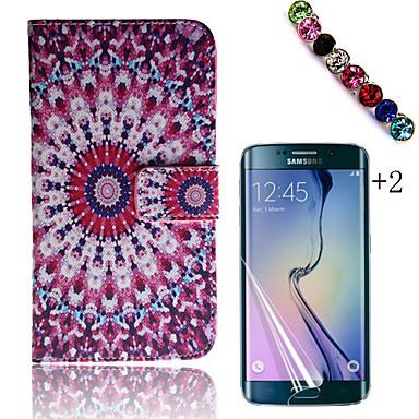 Para Porta-Cartão / Carteira / Com Suporte / Flip / Estampada Capinha Corpo Inteiro Capinha Flor Rígida Couro PU Samsung Trend 3
