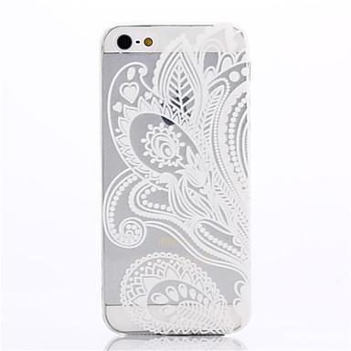 Pouzdro Uyumluluk Apple iPhone 5 Kılıf Çiçek Çiçek Yumuşak TPU için Apple