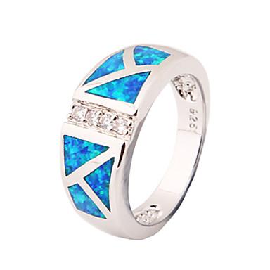 Γυναικεία Δακτύλιος Δήλωσης Μπλε Συνθετικοί πολύτιμοι λίθοι Ζιρκονίτης Μοντέρνα Γάμου Πάρτι Καθημερινά Causal Αθλητικά Κοστούμια Κοσμήματα