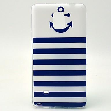 Para Samsung Galaxy Note Estampada Capinha Capa Traseira Capinha Âncora TPU Samsung Note 4