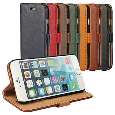 schors grain lederen full body hoes met standaard en case voor de iPhone 6