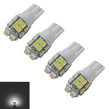 JIAWEN 4шт 1.5 W 85 lm 20 Светодиодные бусины SMD 3528 Холодный белый 12 V / 4 шт.