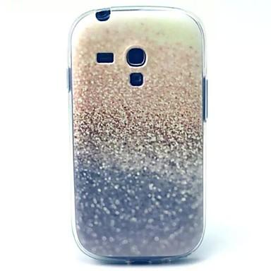 Voor Samsung Galaxy hoesje Patroon hoesje Achterkantje hoesje Glitterglans TPU Samsung S3 Mini