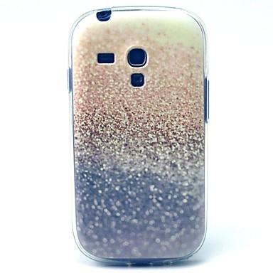Para Samsung Galaxy Capinhas Estampada Capinha Capa Traseira Capinha Brilho com Glitter TPU Samsung S3 Mini