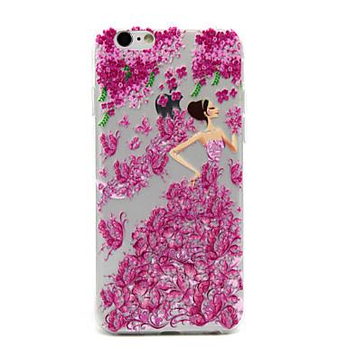 elegant koningin patroon transparante TPU vallen proof case voor de iPhone 6s plus / 6 plus