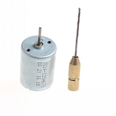 kaliteli diy ev yapımı motorlu mikro matkap - (gümüş renk) 1 adet