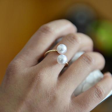 Žene Band Ring Biseri dame Otvoreno Modno prstenje Jewelry Zlatan Za Vjenčanje Party Dnevno Kauzalni Sport Prilagodljive