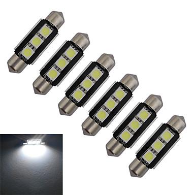 60-70 lm Festoon Διακοσμητικό Φως 3 leds SMD 5050 Ψυχρό Λευκό DC 12V