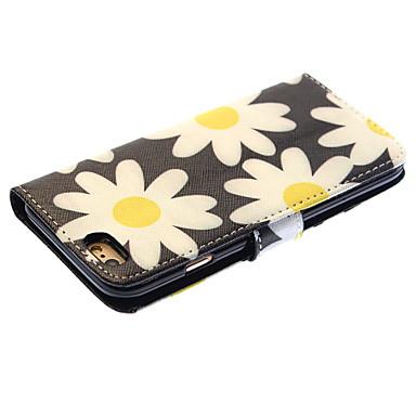 hoesje Voor Apple iPhone 6 iPhone 6 Plus Kaarthouder Portemonnee met standaard Flip Volledig hoesje Bloem Hard PU-nahka voor iPhone 6s