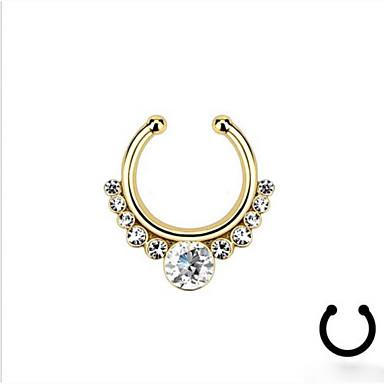 Feminino Bijuteria de Corpo Anéis e Brincos de Nariz Piercing no nariz Strass imitação de diamante Liga Original Moda Jóias Prata Dourado