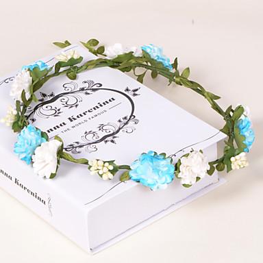 Mulheres Menina das Flores Papél Plástico Capacete-Casamento Ocasião Especial Casual Escritório e Carreira Ao ar Livre Grinaldas 1 Peça