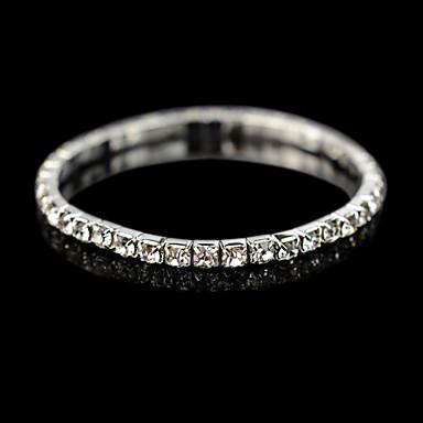 Homme Femme Cristal Bracelets de tennis - Cristal, Zircon, Plaqué argent Bracelet Pour Mariage Quotidien Décontracté