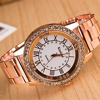 yoonheel Dames Vrijetijdshorloge Gesimuleerd Diamant Horloge Modieus horloge Kwarts imitatie Diamond Metaal Band Zilver Goud Goud Rose